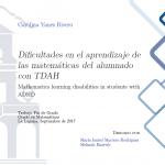 Dificultades de aprendizaje de las matemáticas del alumnado con TADH