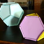 Construye poliedro con gomas y cartulina